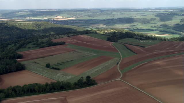 Valley and landscape - Aerial View - Bourgogne, Yonne, Arrondissement d'Auxerre, France