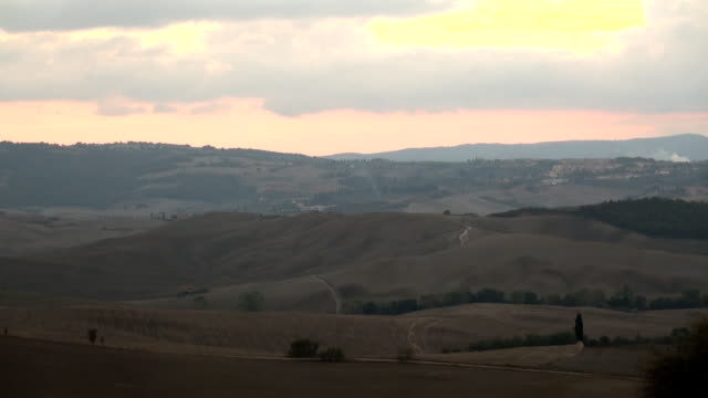 valley at dusk video