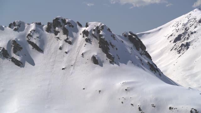 dolina między dwoma masami łańcucha gór - antarktyda filmów i materiałów b-roll