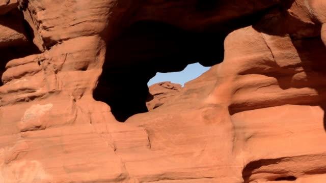 paesaggio della valle del fuoco - red rock canyon national conservation area video stock e b–roll
