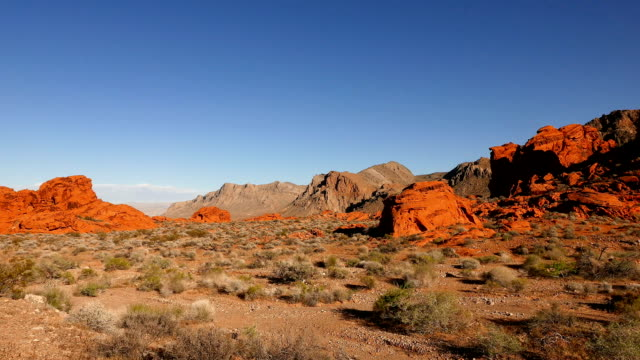 parco nazionale valley of fire, nevada - red rock canyon national conservation area video stock e b–roll