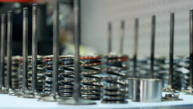 Valves and springs from motorbike video