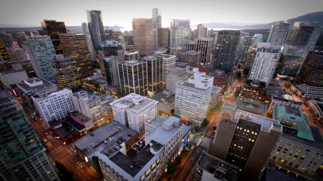 Vancouver, Canada Timelapse of the Vancouver skyline from day to night, Canada  vancouver canada stock videos & royalty-free footage