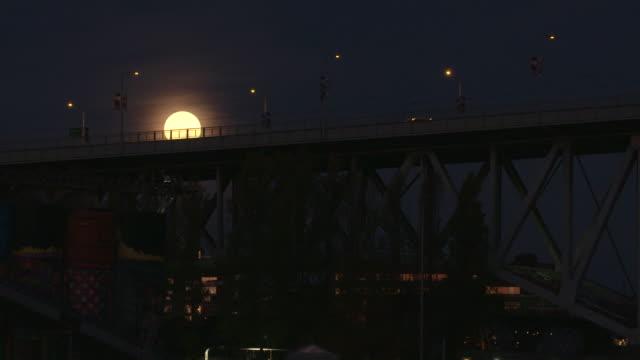 Vancouver Commuter Traffic Full Moon Set video