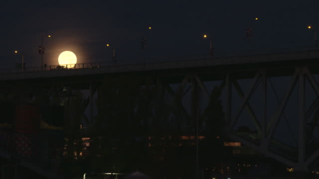 Vancouver Downtown Full Moon Set video
