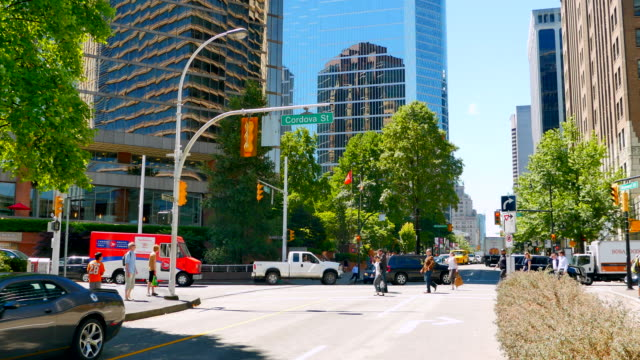 Vancouver Downtown Intersection, Business District 4K Vancouver Downtown Intersection, Business District vancouver canada stock videos & royalty-free footage