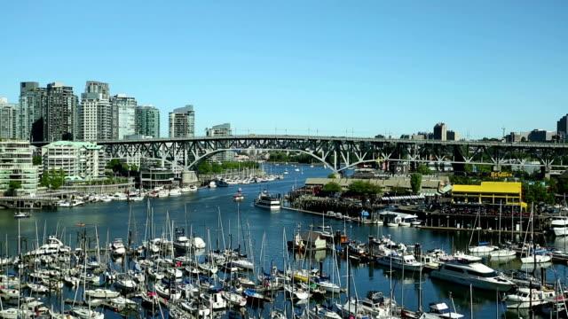 Vancouver False Creek Skyline Cityscape video