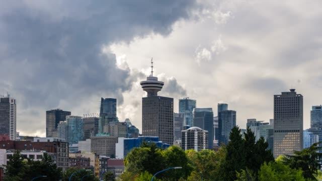 vídeos de stock e filmes b-roll de vancouver summer day city skyline shot from crab park - vancouver