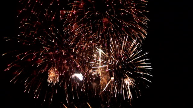 Variety of colors Mix Fireworks or firecracker. video