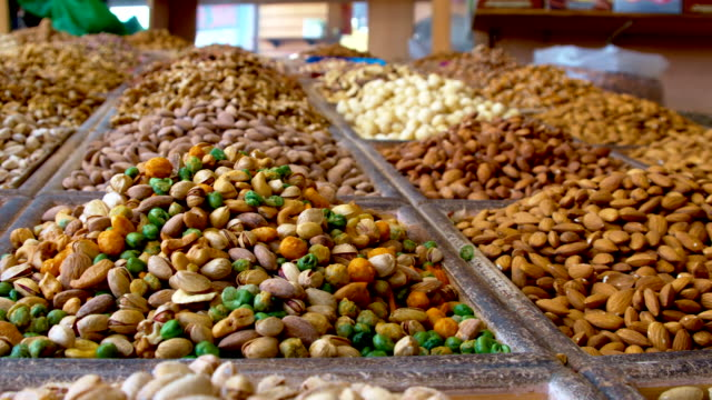 Variety of nuts in Dubai video