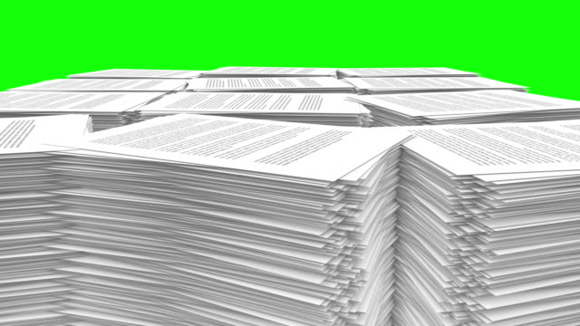 Variety of Paper Stacks Rise video