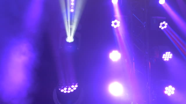 Variety of Stage Lights Glowing, Spinning. and Blinking video