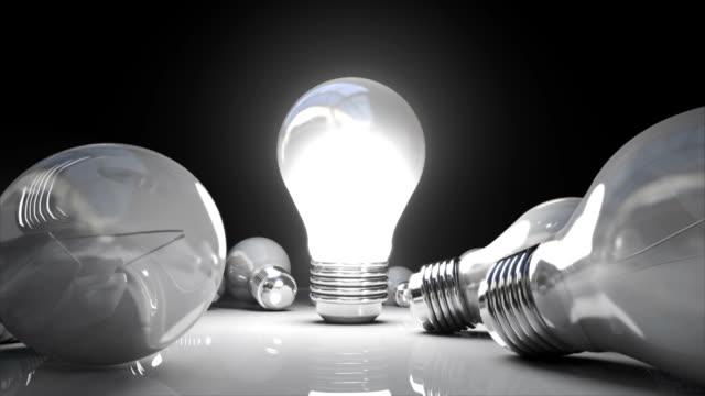Various bulb light and turn on bulb light. video