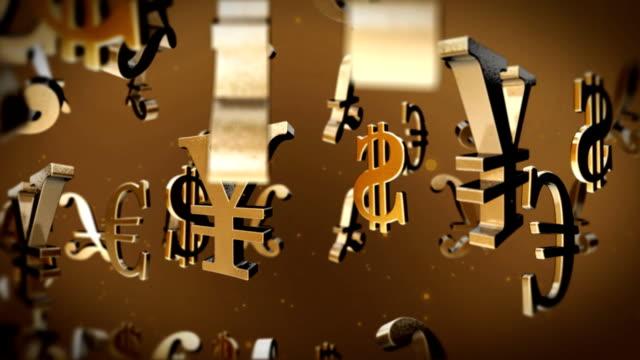 various currencies particles - välstånd bildbanksvideor och videomaterial från bakom kulisserna