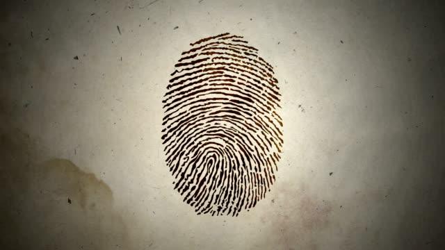 Various Fingerprints Running on an Old Paper