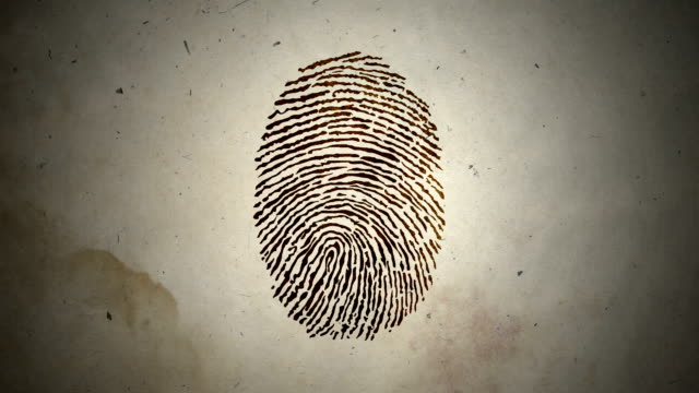 Various Fingerprints Running on an Old Paper Various Fingerprints Running on an Old Paper individuality stock videos & royalty-free footage