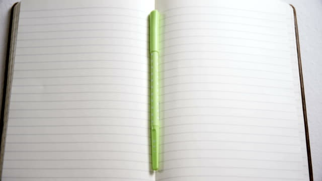 Various stationery on white background 4k video