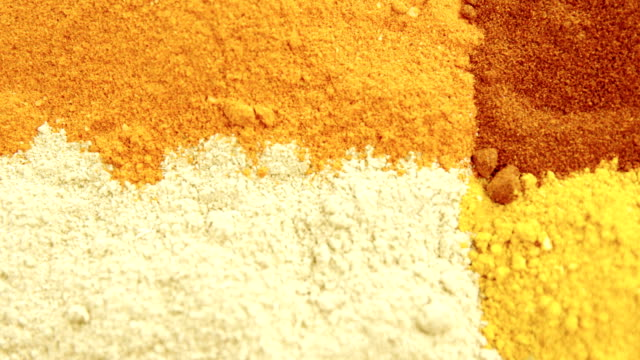 Various type of spices 4k video