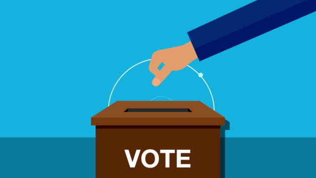 Various vote hand to a ballot box(included alpha) Various vote hand to a ballot box(included alpha) vote stock videos & royalty-free footage