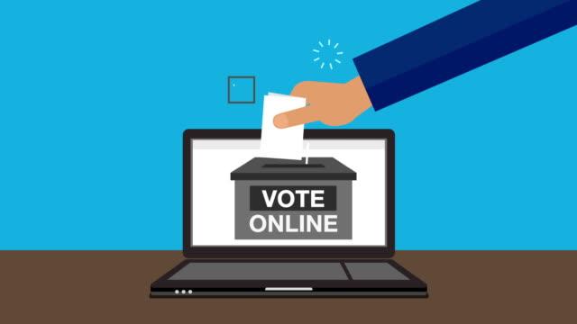 vidéos et rushes de aux voix des mains à internet en ligne (inclus, alpha) - picto urne