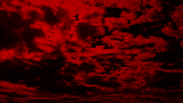 Vast Red Cloudscape Dramatic red sky with clouds moving forward ominous stock videos & royalty-free footage