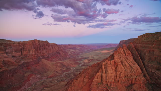 AERIAL Vastness of Grand Canyon at dusk