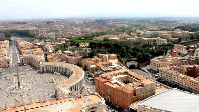 vatikanstaten, iitaly. panorama di roma, utsikt över staden - peter the apostle bildbanksvideor och videomaterial från bakom kulisserna