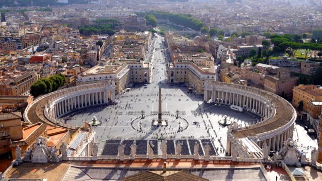 vatikan cityscape görünümü - vatikan şehir devleti stok videoları ve detay görüntü çekimi