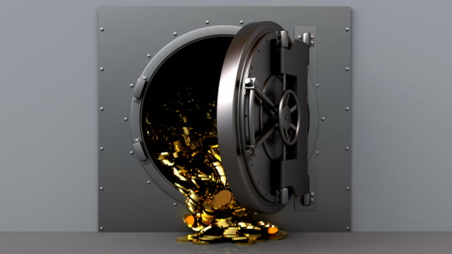 vault by opening 3d animated vault door opening and coins falling safes and vaults stock videos & royalty-free footage