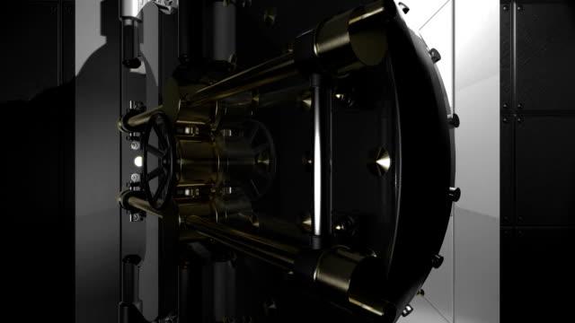 vault door open - safes and vaults stock videos & royalty-free footage
