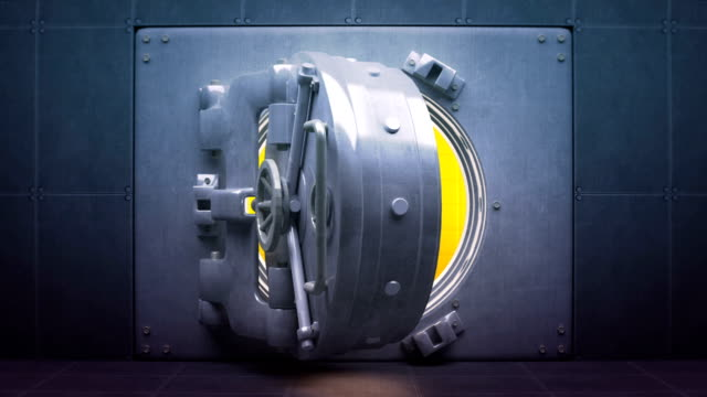 vault doors open and close with id and alpha - safes and vaults stock videos & royalty-free footage