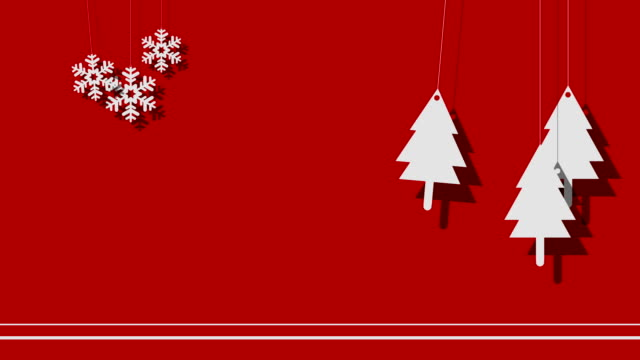 Vector Christmas Background Of Trees And Snowflakes On A String Vector Christmas Background Of Trees And Snowflakes On A String hanging stock videos & royalty-free footage