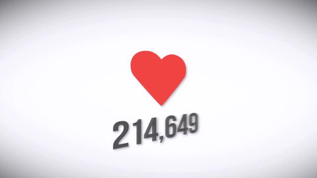 vídeos y material grabado en eventos de stock de icono de corazón vectorial sobre un fondo blanco - copiar