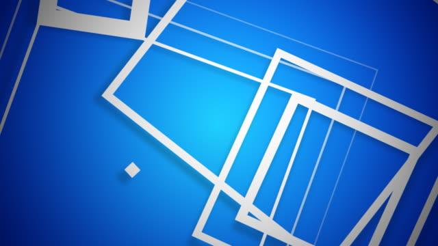 ベクトル広場に白青色 - 清らか点の映像素材/bロール