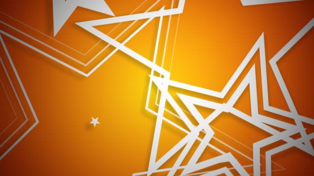 Vector Stars White on Orange video