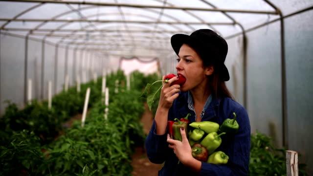 vegan farmer - gospodarstwo ekologiczne filmów i materiałów b-roll