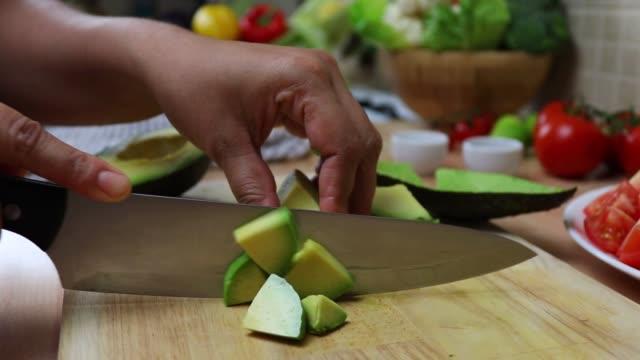 Vegan Food,Vegetable Cutting, avocado cutting