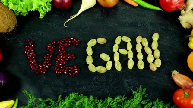 Fruta de vegan parar o movimento de - vídeo