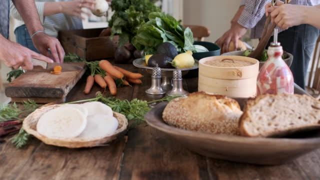 Vegan meal still life on a wooden table. Vegan meal still life on a wooden table. dipping sauce stock videos & royalty-free footage