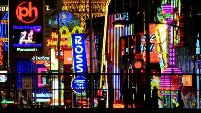 vegas strip neon time lapse video