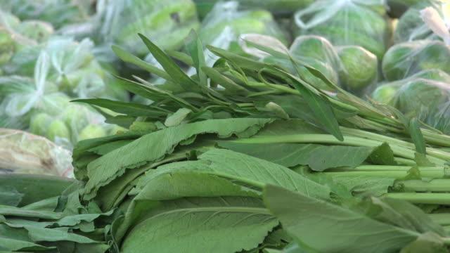 Vegetable In Market Panning Shot