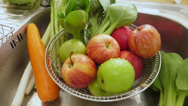 Vegetable in the sink
