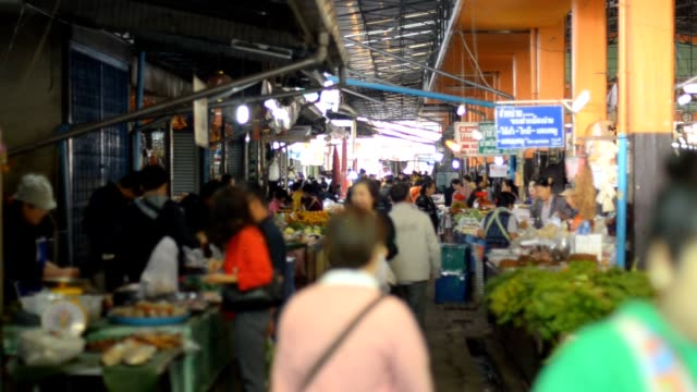 vegetable market in morning video