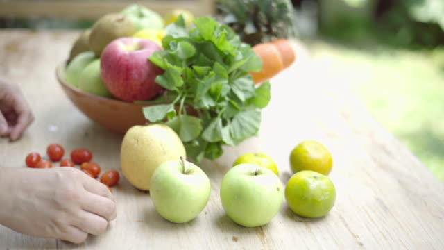 Vegetables and fruits for health video