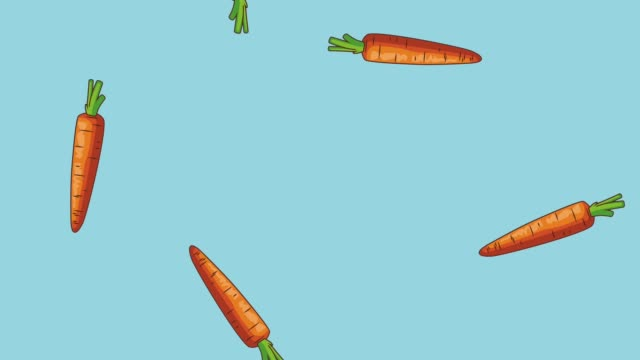 Vegetables falling background HD animation
