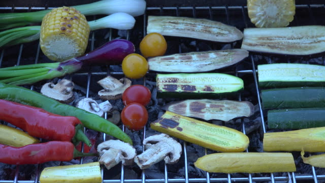 Vegetables on Barbecue Grill video