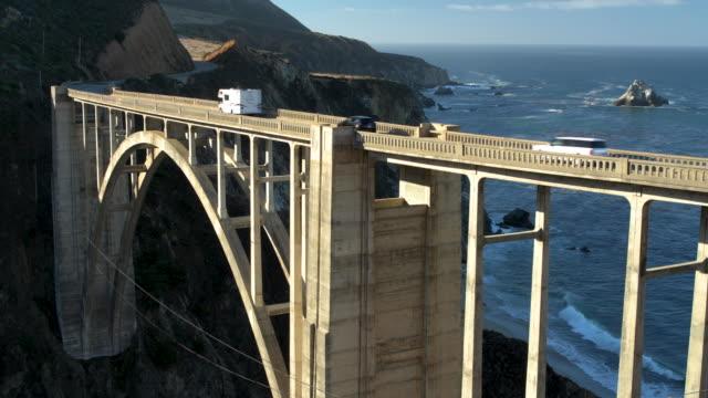 Vehicles Crossing Bixby Bridge California video