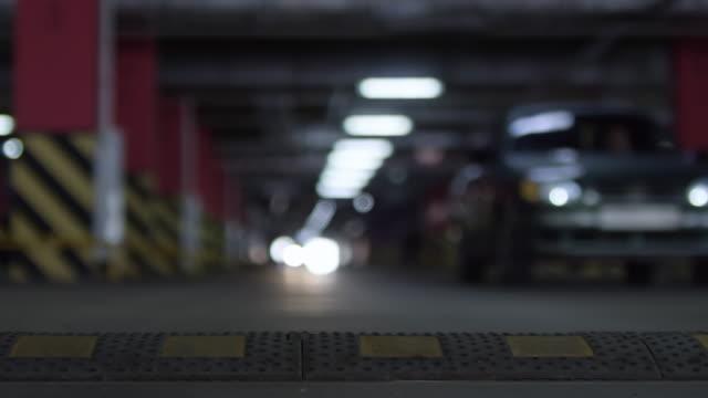 Vehicles Parking in Underground Garage video