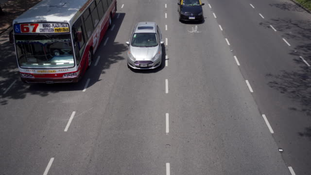 Vehicles passing by on a highway
