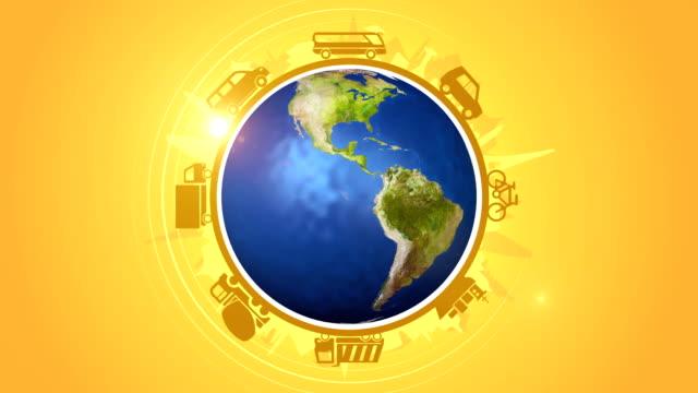 Vehicles Travelling Around The World